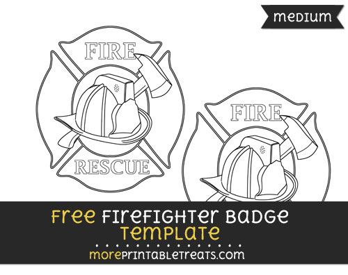 Free Firefighter Badge Template - Medium
