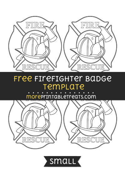 Free Firefighter Badge Template - Small