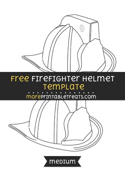 Free Firefighter Helmet Template - Medium