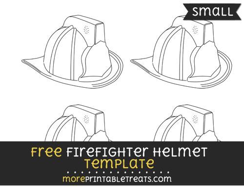 Free Firefighter Helmet Template - Small