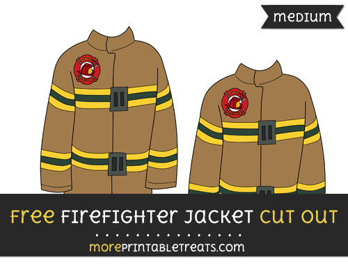Free Firefighter Jacket Cut Out - Medium Size Printable