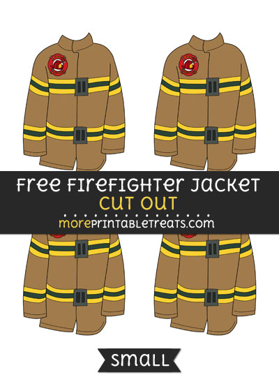 Free Firefighter Jacket Cut Out - Small Size Printable