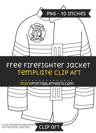 Free Firefighter Jacket Template - Clipart