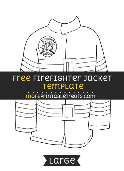 Free Firefighter Jacket Template - Large