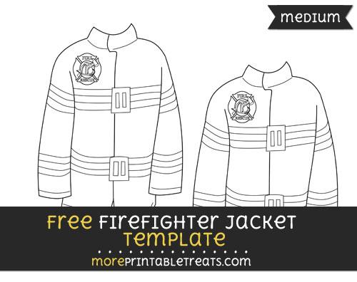 Free Firefighter Jacket Template - Medium