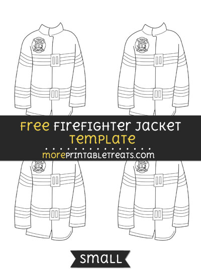 Free Firefighter Jacket Template - Small