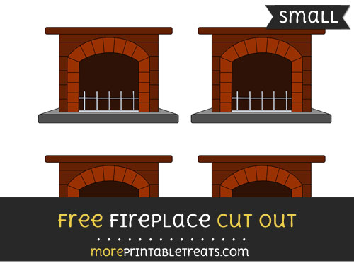 Free Fireplace Cut Out - Small Size Printable
