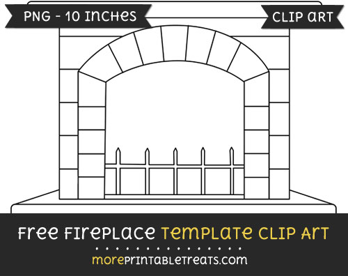 Free Fireplace Template - Clipart