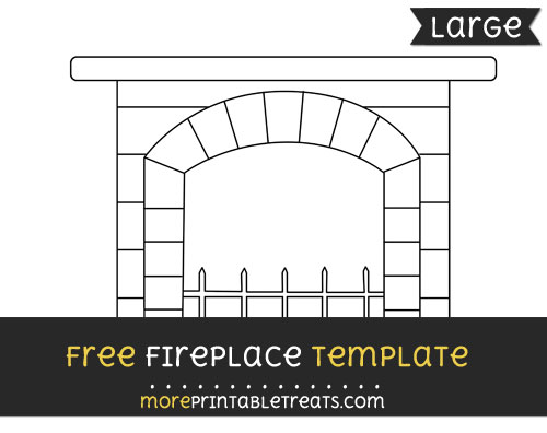 Free Fireplace Template - Large