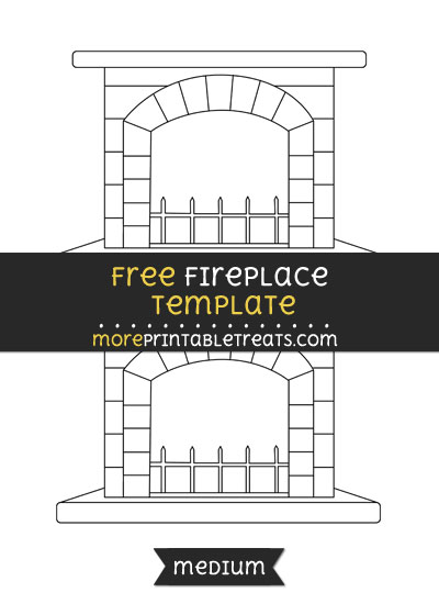 Free Fireplace Template - Medium