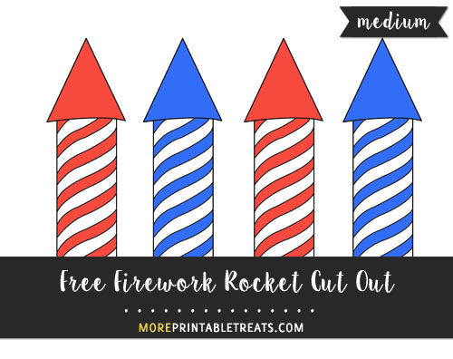 Free Firework Rocket Cut Out - Medium