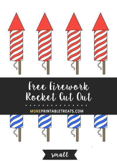 Free Firework Rocket Cut Out - Small