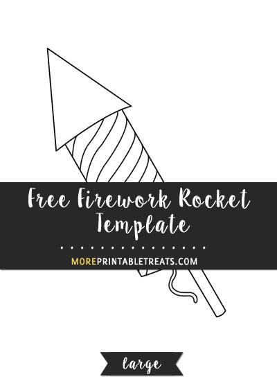 Free Firework Rocket Template - Large