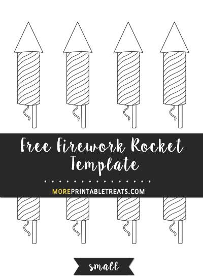 Free Firework Rocket Template - Small Size