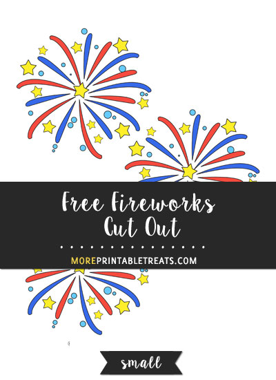 Free Fireworks Cut Out - Small