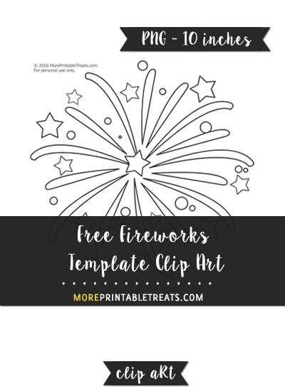 Free Fireworks Template - Clipart