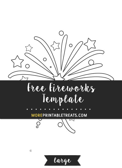 Free Fireworks Template - Large