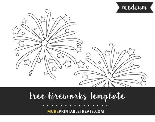 Free Fireworks Template - Medium Size