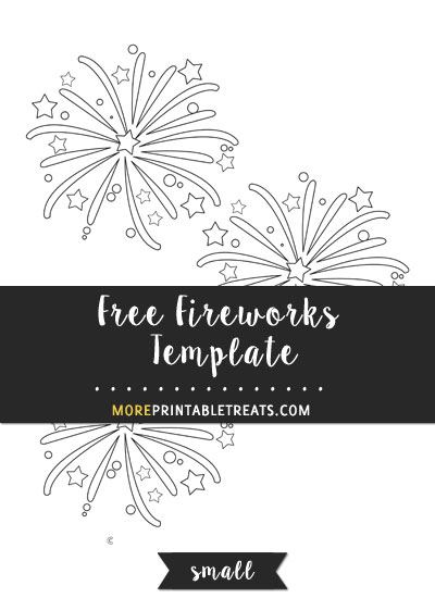 Free Fireworks Template - Small Size