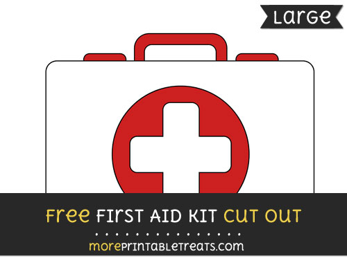 Free First Aid Kit Cut Out - Large size printable