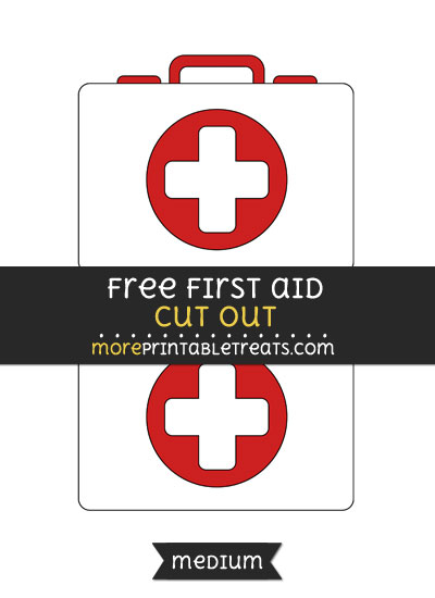 Free First Aid Kit Cut Out - Medium Size Printable