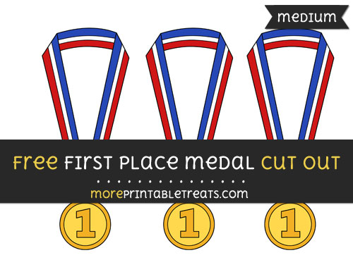Free First Place Medal Cut Out - Medium Size Printable