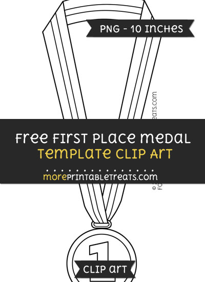Free First Place Medal Template - Clipart