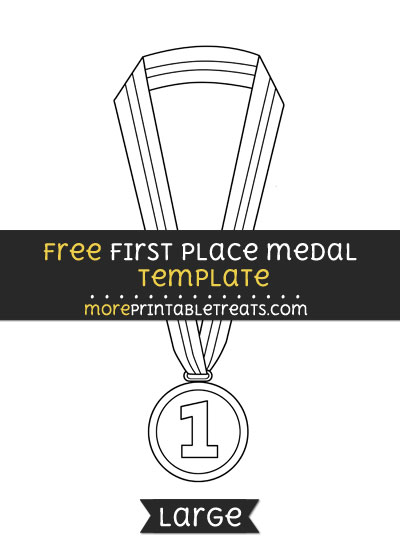 Free First Place Medal Template - Large