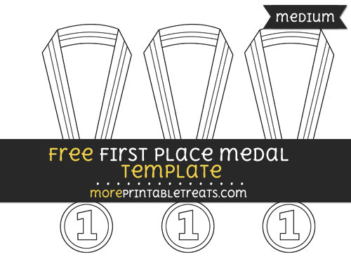 Free First Place Medal Template - Medium