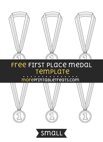 Free First Place Medal Template - Small