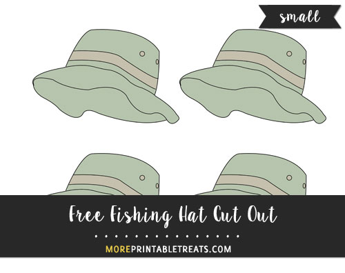 Free Fishing Hat Cut Out - Small