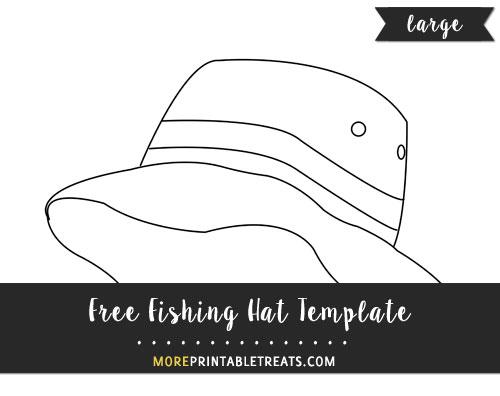 Free Fishing Hat Template - Large