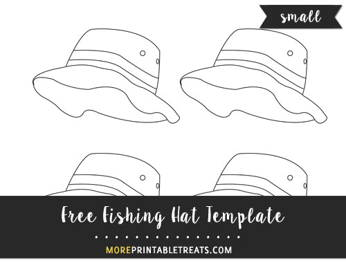 Free Fishing Hat Template - Small