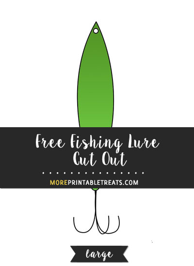 Free Fishing Lure Cut Out - Large