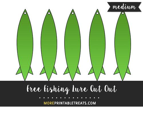 Free Fishing Lure Cut Out - Medium