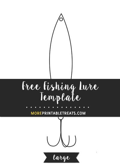 Free Fishing Lure Template - Large