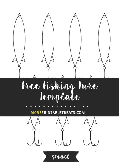 Free Fishing Lure Template - Small