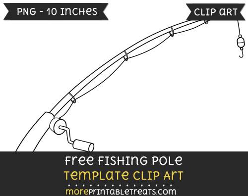 Free Fishing Pole Template - Clipart