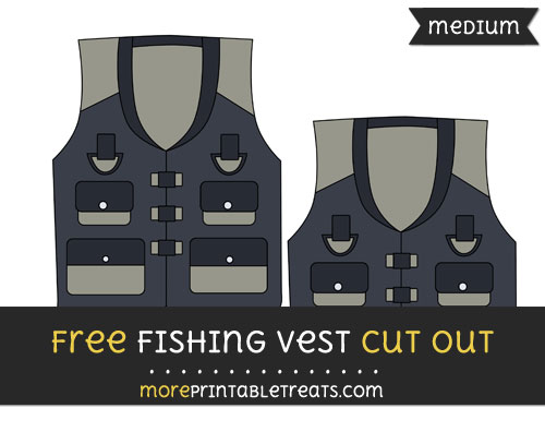 Free Fishing Vest Cut Out - Medium Size Printable