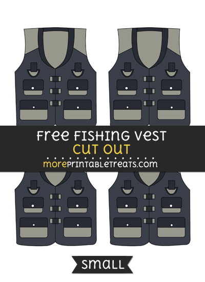 Free Fishing Vest Cut Out - Small Size Printable
