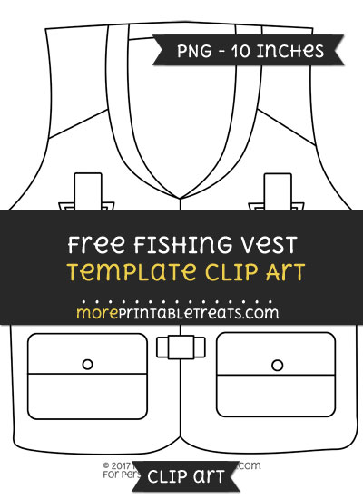 Free Fishing Vest Template - Clipart