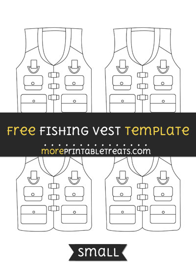 Free Fishing Vest Template - Small