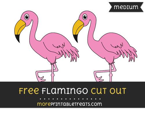 Free Flamingo Cut Out - Medium Size Printable