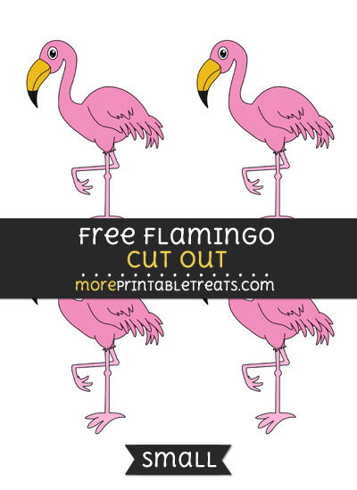 Free Flamingo Cut Out - Small Size Printable