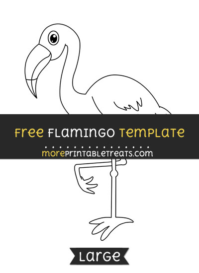 Free Flamingo Template - Large
