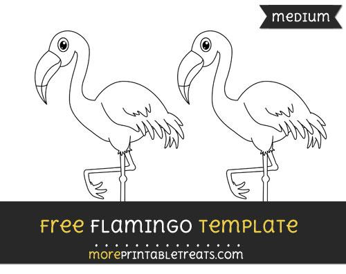 Free Flamingo Template - Medium