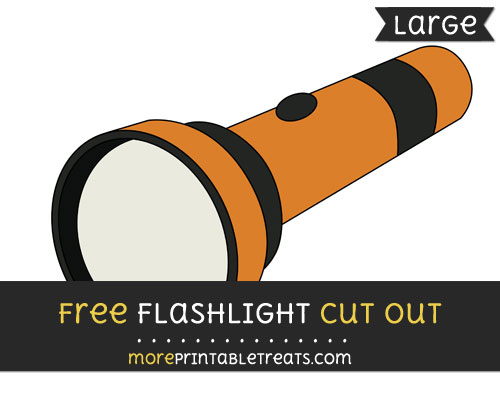 Free Flashlight Cut Out - Large size printable