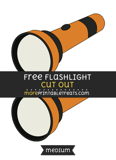 Free Flashlight Cut Out - Medium Size Printable