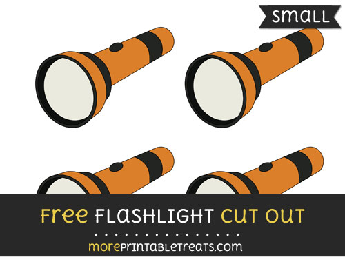 Free Flashlight Cut Out - Small Size Printable