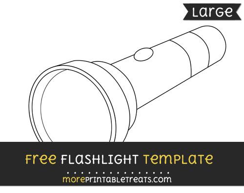 Free Flashlight Template - Large